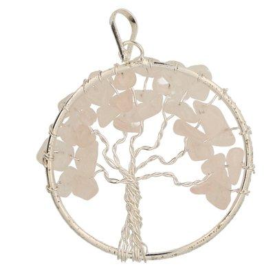 Levensboom rozenkwarts hanger
